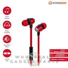 Naztech HyperGear dBm Wave 3.5mm Earphones w/Mic - Red Loud Audio Hear Sound