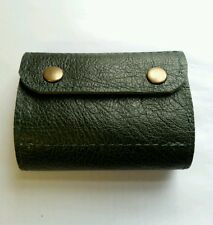 .22 hornet/17HMR/17 Hornet Bullet wallet. Holds 16.Green real leather with studs