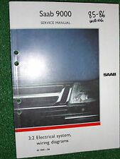 SAAB 9000 ELECTRICAL SYSTEM WIRING CIRCUIT CONNECTOR DIAGRAMS MANUAL 1985-86