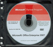 Microsoft Office Enterprise Professional 2007 WORD EXCEL POWERPOINT FULL VERSION