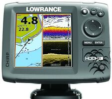 *NEW Lowrance Hook-5 Fishfinder/GPS Combo Mid/High/DownScan Bundle 000-12656-002