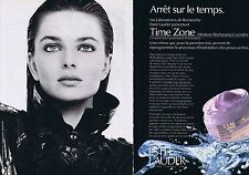 PUBLICITE ADVERTISING 045 1990 ESTEE LAUDER Time zone (2 pages)