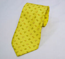 SALVATORE FERRAGAMO Men's Necktie - Made In Italy YELLOW Frog Butterfly Rabbit