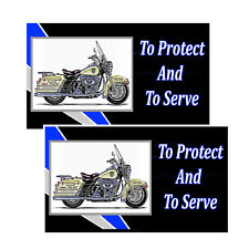 Harley Davidson Police Motorcycle To Protect And To Serve Decals Pack Of Two