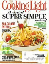 Cooking Light August 2012 300 Calorie Entrees/Lemon Squares/Pasta/Corn/Pairings