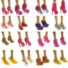 10 Pairs Fashion Party Daily Wear Dress Clothes Match Shoes New For Barbie Doll