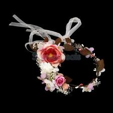 Flowers Crown Garland Hair Band Headband Headdress for Wedding Festival