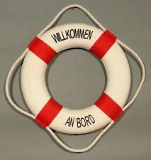 "Deko Rettungsring ""Willkommen an Bord"" rot / weiß 35 cm Ø maritime Dekoration"