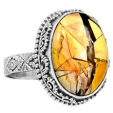 Brecciated Mookaite 925 Sterling Silver Ring Jewelry s.8 BRMR285
