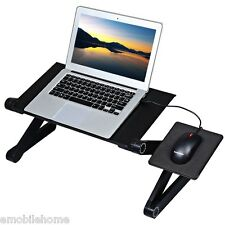 360 Degree Adjustable Folding Laptop Notebook PC Desk Table Stand Bed Tray
