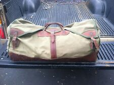 vintage gokey bag lg. canvas leather pre orvis 50s j.w. hulme duffle travel bag
