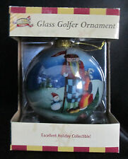 Golf Gifts & Gallery Glass Golfer Ornament Clubhouse collection Hand Craft Paint