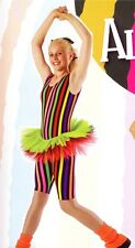 Allsorts Funky Stripe Tutu Catsuit Dress Dance Costume Child Large 3A