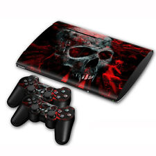 Skin Sticker For PS3 PlayStation Super Slim 4000 + 2 Controllers Vinyl Decal #53