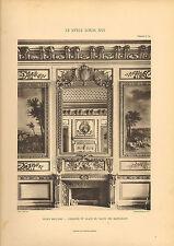 """Gros caractères 1905 """"le style louis xv1"""" ecole militaire-cheminee dans le salon"""""""
