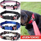 EzyDog Double Up Strong Reflective Adjustable Dog Puppy Collar All Sizes Colours