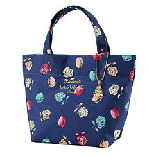 Laduree Japan ❤ Tote Bag S Roses et macarons Navy