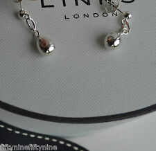 NEW LINKS OF LONDON STERLING SILVER ROSE DROPS  EARRINGS  WOMAN GIFT