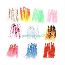 50pcs 9cm Muticolour Fishing Lures Octopus Hoochie Squid Skirt Soft Baits Lure