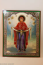 Intercession of the Theotokos Laminated Icon 15x18cm Покрова Пресвят Богородицы