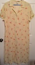 Christopher And Banks Plus Size 16 Bright Yellow Floral Lined Dress SS Buttons