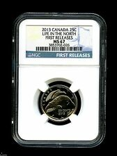 2013 CANADA LIFE IN THE NORTH ORCA WHALE QUARTER NGC MS67 FIRST RELEASES RARE
