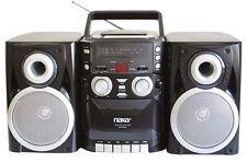 Naxa Portable CD Player AM/FM Radio Cassette Detachable Speakers AC/DC AUX-input