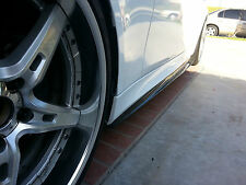 BMW E60 M5 100% REAL CARBON FIBER SIDE SKIRT DIFFUSER LIP EXTENSIONS
