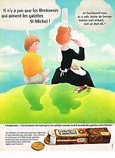 PUBLICITE ADVERTISING 024   1972   GALETTES SAINT MICHEL   biscuits gateaux