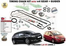 FOR CITROEN C4 + PICASSO 1.4 VTI 1.6 VTI 2008-  TIMING CHAIN KIT WITH VVT GEARS