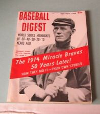 October November 1964 Baseball Digest Magazine Ted Williams World Series History