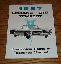 1967 Pontiac LeMans Tempest GTO Illustrated Facts Feature Manual Brochure 67
