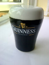 GUINNESS ALE GLASS SHAPED PEPPER POT . CERAMIC . SOME DAMADGE