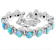Fire Opal 925 Sterling Silver Bracelet Jewelry SB153