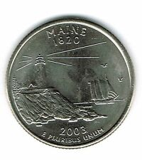 2003-D Brilliant Uncirculated Maine 23TH State Quarter Coin!