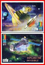 GAMBIA = EXPO 2000 x2 S/S MNH ** SPACE & ASTRONOMY (SATURN), TELESCOPE