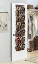 Over The Door Shoe Rack For Closet Hanging Storage Canvas Organizer Wall Holder