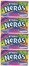 4 x Formally Wonka Rainbow Nerds Crunchy Candy Large Box 141.7g American Sweets