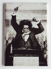 Ludwig van Beethoven FRIDGE MAGNET (2 x 3 inches) symphony 5 conducting