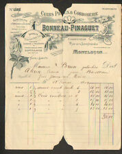 """MONTLUCON (03) USINE de GALOCHES / CUIRS & PEAUX  """"BONNEAU & PINAGUET"""" en 1909"""