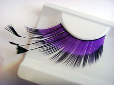 Long-Tail Purple Black Makeup Handmade False Fake Party Soft Eyelashes