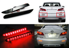 2x Black Smoked Lens LED for LEXUS TOYOTA Bumper Reflector Tail Brake Stop Light