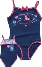 Chelsea FC Girls Navy Swimsuit Swimming Costume Official Merchandise Age 7-8