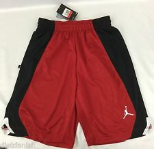 Nike Jordan MEN'S Athletic Basketball Loose Shorts Red Black 820645 Size M