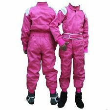 KIDS CHILDREN KARTING RACE OVERALL SUITS POLYCOTTON One Piece INDOOR/OUTDOOR NEW