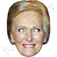 Mary Berry Celebrity Chef Card Mask - All Our Masks Are Pre-Cut!