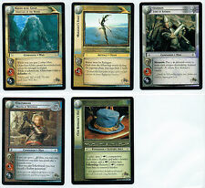 LORD OF THE RINGS TCG SET OF 5 WETA PROMO CARDS