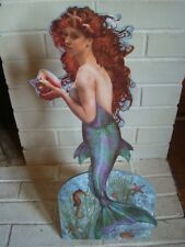 MERMAID DIE CUT STANDEE Conch Shell Seahorse Seashells Starfish Beach Home Decor