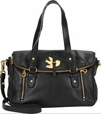 NWT Marc by Marc Jacobs BLACK Petal to the Metal Voyage Leather Satchel Bag AUTH
