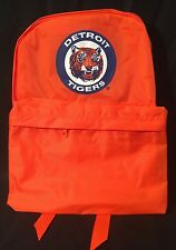 Vtg 80s Detroit Tigers Tigers Stadium Neon Orange Baseball Backpack NOS Tote Bag
